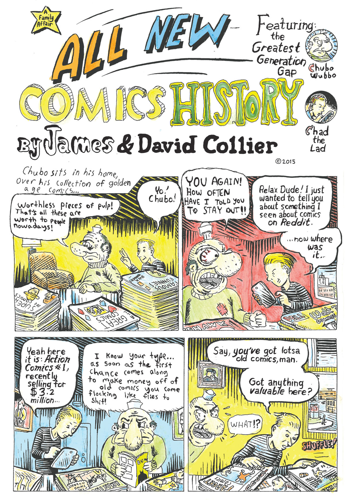 Comic by David and James Collier