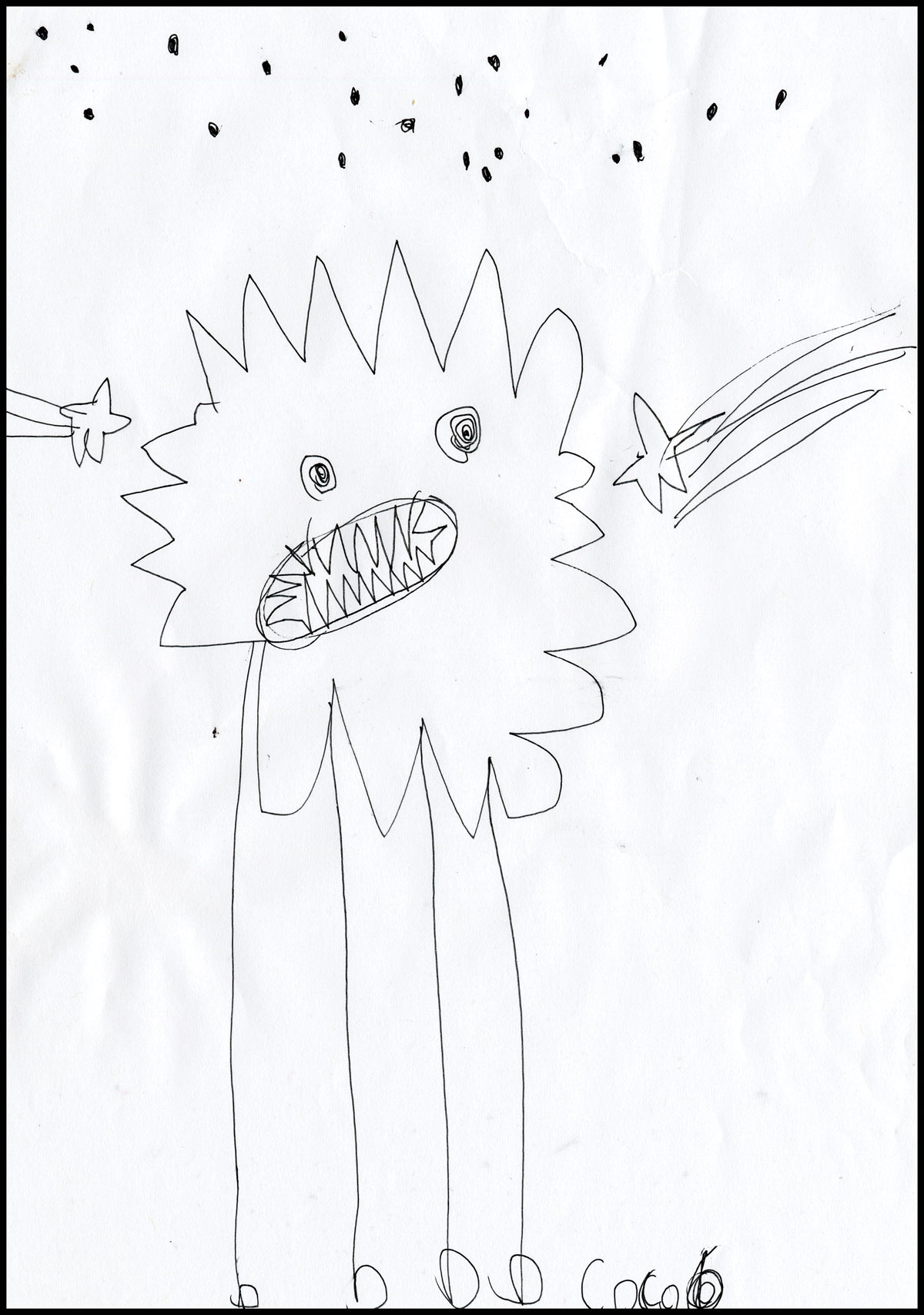 Illustration of monster by Coco.