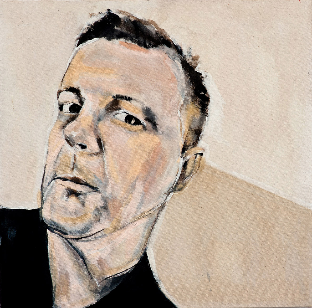 Painting of Christian Bök by Melanie Janisse-Barlow