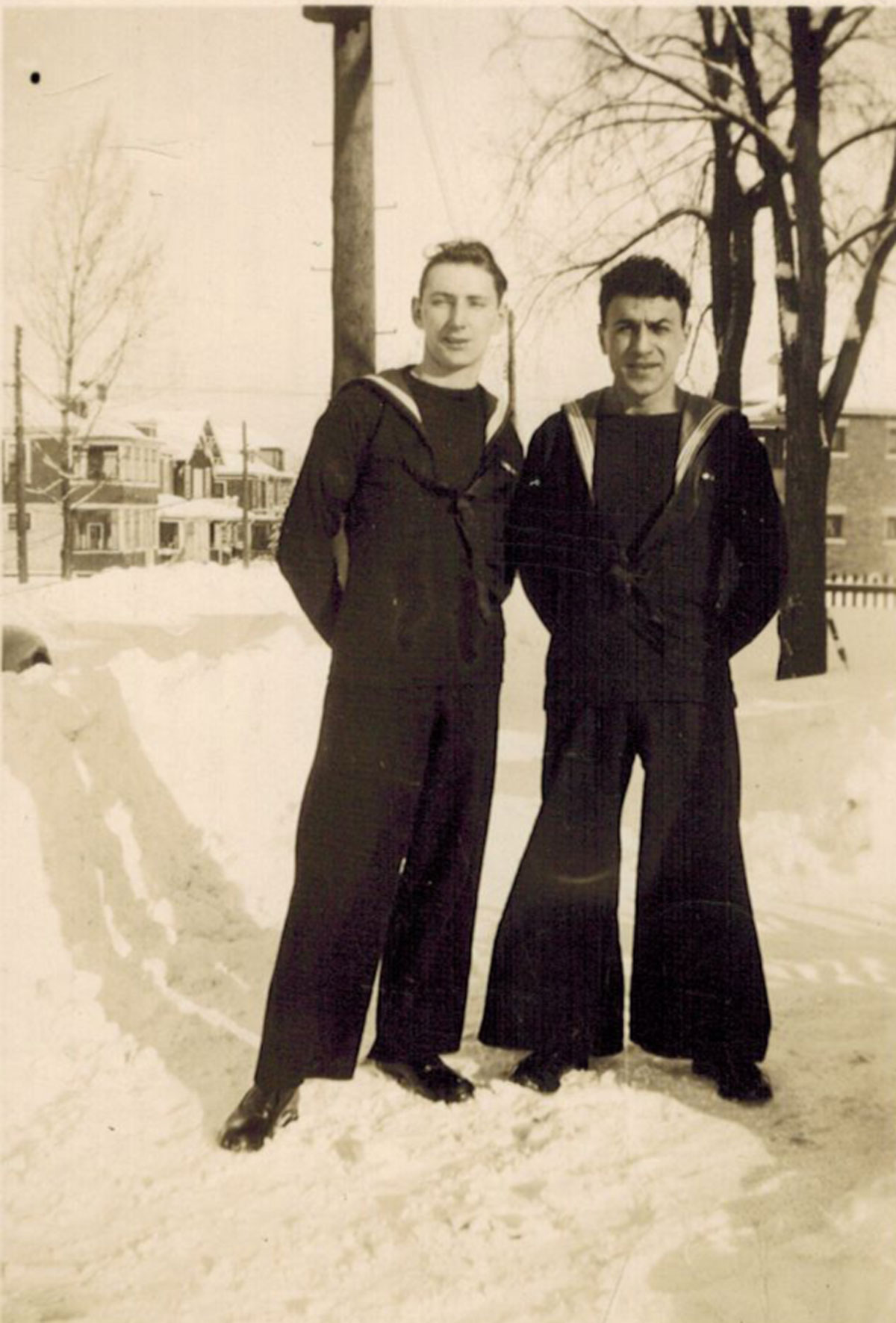 Photograph of M. Fred Tobias (right).