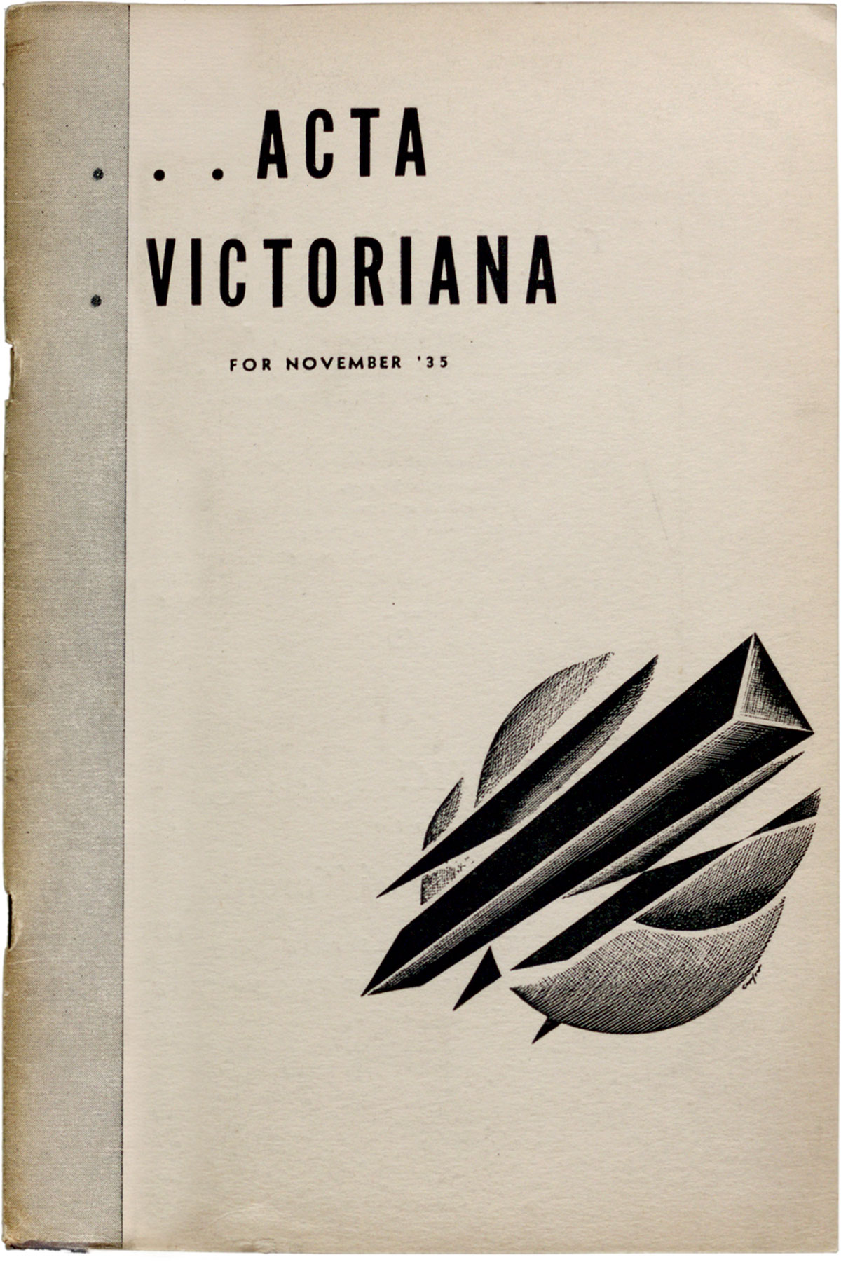 Cover courtesy E. J. Pratt Library