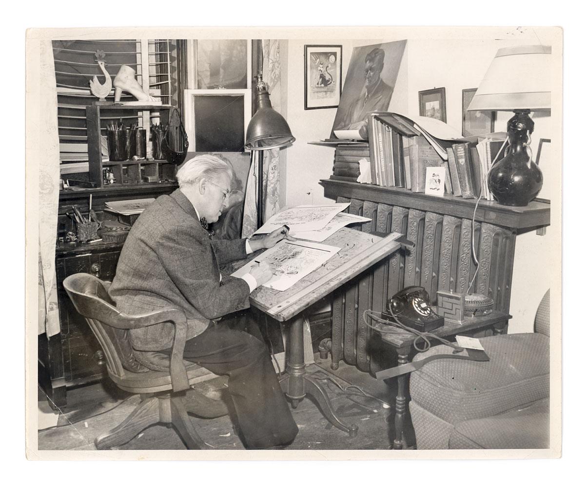 Photo of Lou Skuce in home studio