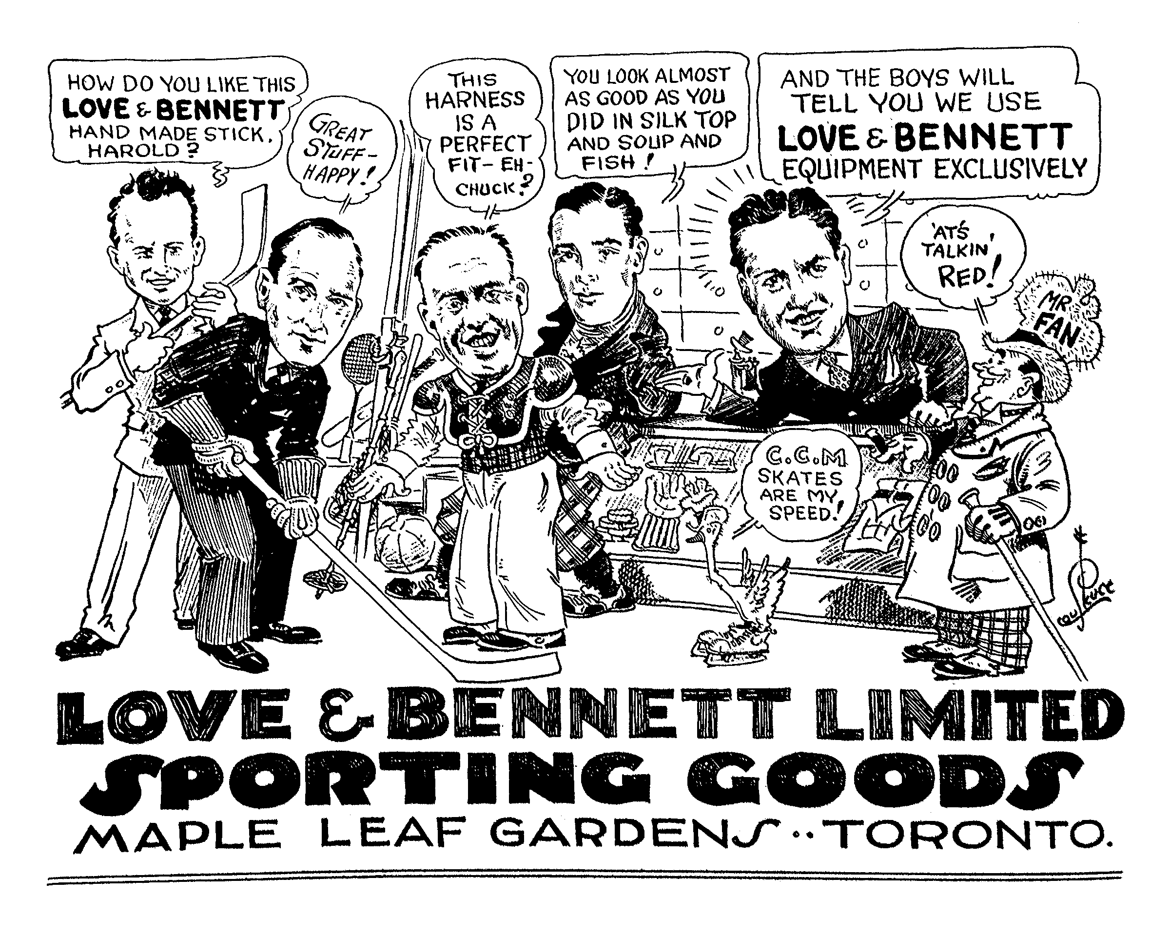 Photo of Love & Bennett ad by Lou Skuce