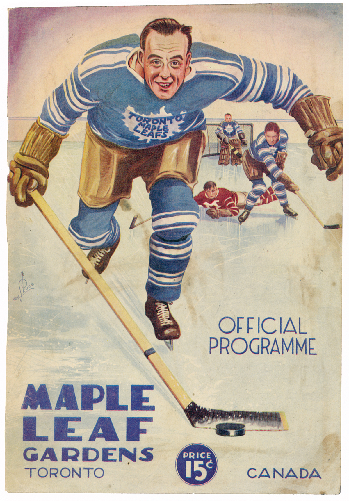 Picture of 1932 Maple Leaf Gardens program cover