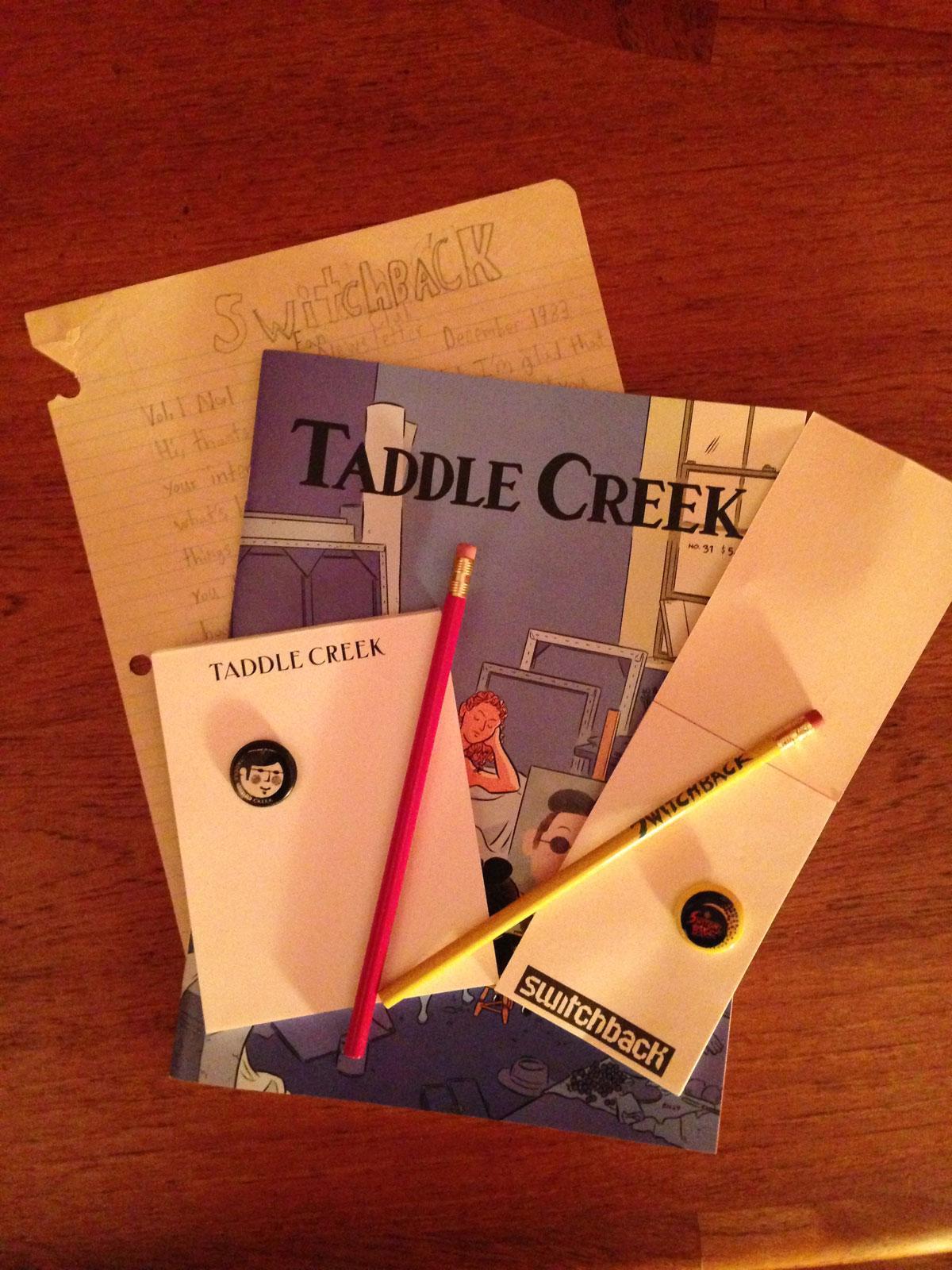 Switchback, 1983 vs. Taddle Creek, 2013.